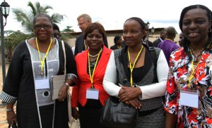 Conference participants with HE Mary Mubi.